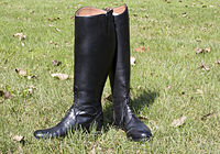 A pair of tall riding boots