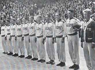 Finland national basketball team - Finnish national team during the EuroBasket 1939 in Lithuania.