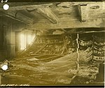 Fire-damaged interior with books reduced to ashes, Hiroshima University of Literature and Science.jpg