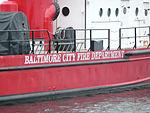 Fire boat -- Baltimore Harbor -- Fort McHenry National Monument.jpg
