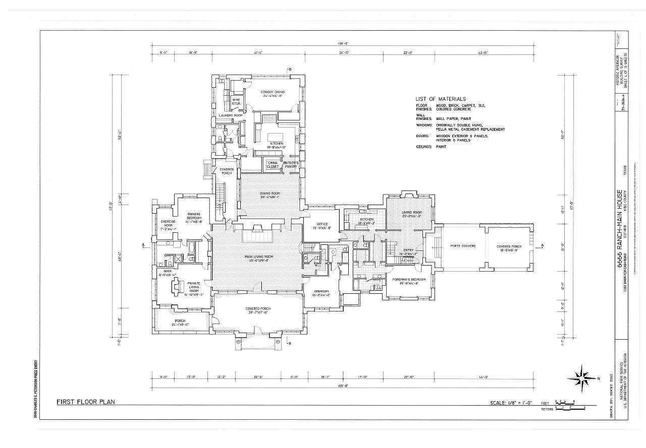 File:First floor plan - 6666 Ranch, Main House, 1102 Dash ...