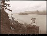 Fish Wheel & Castle Rock Columbia River, C.R. Savage Photo..jpg
