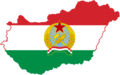 Flag-map of People's Republic of Hungary.png