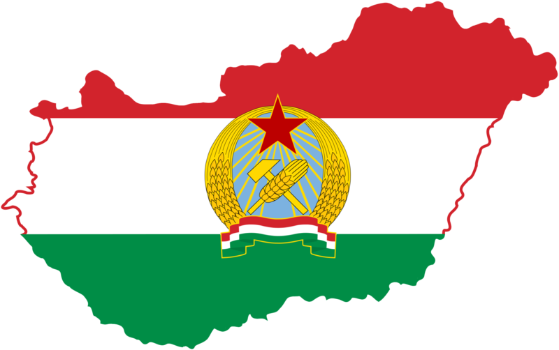 File:Flag-map of People's Republic of Hungary.png