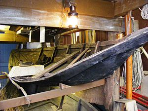 Bridgwater Bay - Flatner in the Watchet Boat Museum.