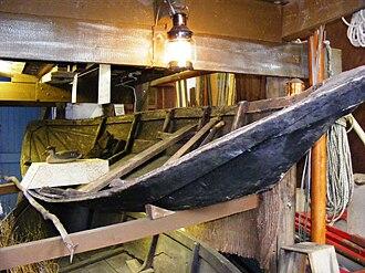 Bridgwater Bay - Flatner in the Watchet Boat Museum.
