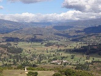Iraca - View of the sacred Iraca Valley (Tobasía)