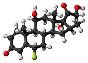 Fluprednisolone - Image: Fluprednisolone 3D ball