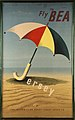 Fly BEA Jersey tourism advertising poster beach umbrella.jpg