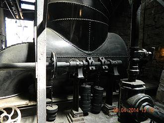 Folsom Powerhouse State Historic Park - Folsom Upper House Main Turbine.JPG