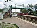Footbridge at Huncoat Railway Station - geograph.org.uk - 674071.jpg