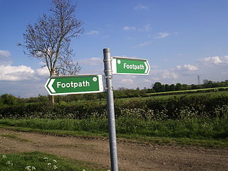 Rights of way in England and Wales - Footpath sign