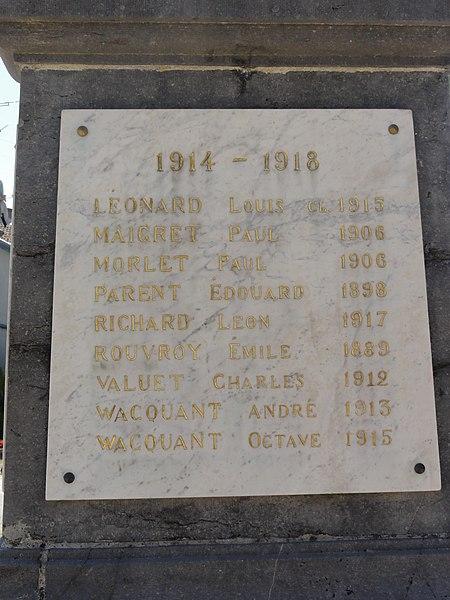 Forges-sur-Meuse (Meuse) monument aux morts