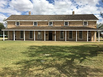 Fort Concho - Headquarters building, September 2017