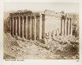 Fotografi på romerska tempelruiner i Balbek - Hallwylska museet - 104283.tif