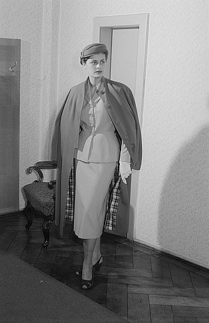 Pencil skirt - Suit with a pencil skirt, German, 1954