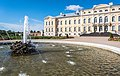 Fountain in front of Rundāle Palace.jpg
