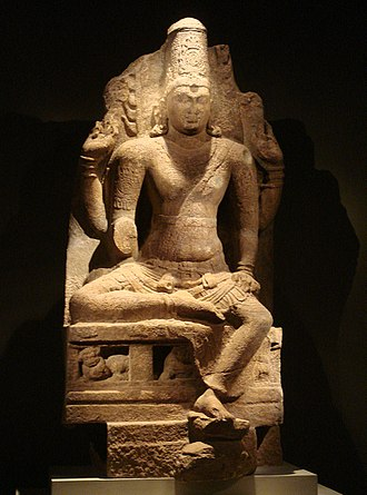 Pandyan dynasty - Four-armed Vishnu, Pandya Dynasty, 8th–9th century CE.
