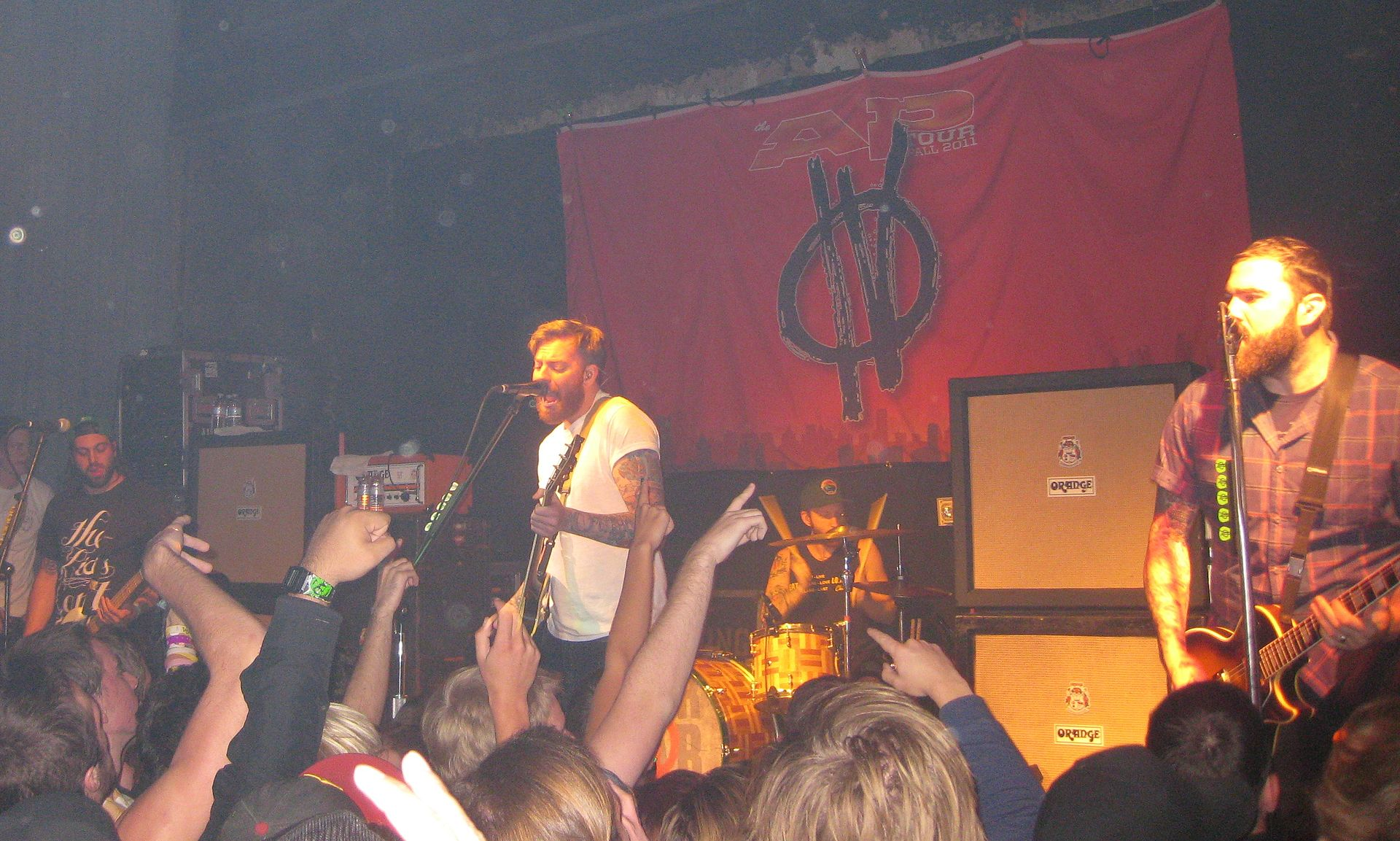 Four Year Strong in 2011. From left to right: Weiss, Day, Massucco, and O'Connor.