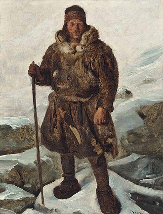 Sámi people - A Laplander depicted in art, painting by François-Auguste Biard.