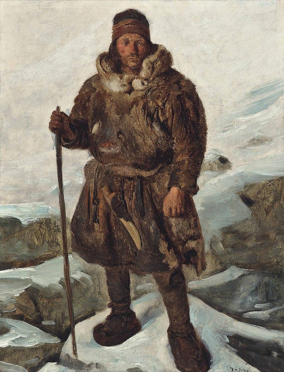 François-Auguste Biard - Un Lapon