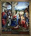 Francesco Raibolini detto il Francia, Il Bambino adorato dalla Vergine, dai santi e alla presenza di Anton Galeazzo e Alessandro Bentivoglio, (1498-99) 01.jpg