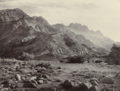 Francis Frith, Distant View of Mont Serbal, 1855–98, Albumen silver print, 15.2 x 20.3 cm, MoMA, 185.1972.png