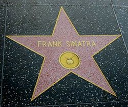 Frank Sinatras stjerne på Hollywood Walk of Fame.