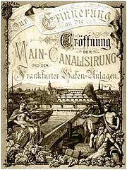 Frankfurt Eröffnung Westhafen 1886