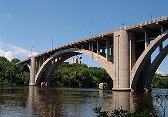 Franklin Avenue Bridge - Franklin Avenue Bridge spanning the Mississippi River