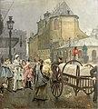 Franz Gailliard, La Place Sainte-Gudule à Bruxelles après le Carnaval, 1890.jpg