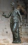 Frari (Venice) nave right - Statue of Saint Agnes by Girolamo Campagna.jpg