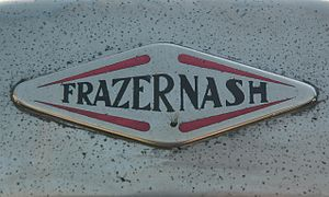 Frazer Nash - Badge on a 1936 car