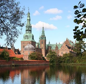 Architecture of Denmark - Renaissance-styled Frederiksborg Palace completed by Hans van Steenwinckel the Younger in 1620