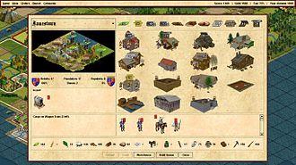 FreeCol - Screenshot of the unit selection screen.