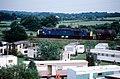 Freight train passes the Caravan Park Nr Moore - geograph.org.uk - 775684.jpg