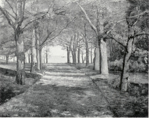 Parkweg am See