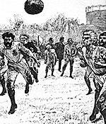Gráficos del primer partido internacional entre Inglaterra y Escocia el 30 de noviembre de 1872.