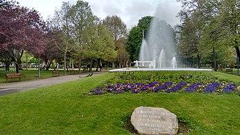 Fuente ornamental del Parque de Quevedo