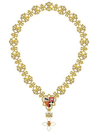 Order of Vytautas the Great - Full view of Order with Golden Chain