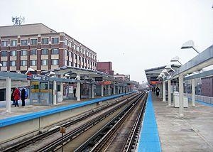 Fullerton station (CTA) - Image: Fullerton station 2010