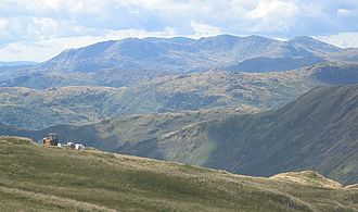 Furness Fells - The Coniston Fells as a single unit - seen from Helvellyn.