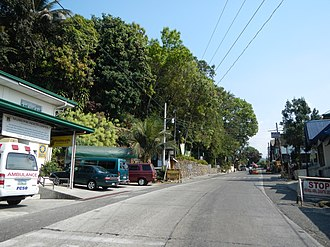 Burgos, La Union - Burgos town center along Naguilian Road