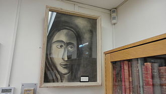 "Gershom Scholem - 1947 drawing by Trude Krolik of the young Scholem ""Baal HaZohar"" (Master of the Zohar), in the Scholem collection, National Library of Israel (Hebrew University), Jerusalam"