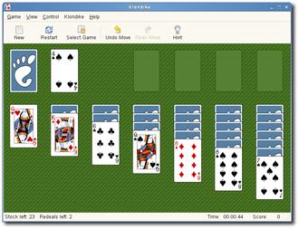 Klondike (solitaire) - A Klondike computer game (part of GNOME).