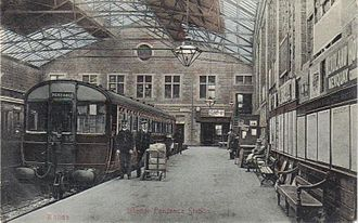Penzance - Inside the new railway station. taken circa 1915