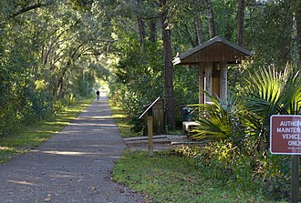 Hawthorne, Florida - Hawthorne entrance to the Gainesville-Hawthorne State Trail
