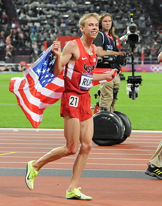 Oregon Ducks track and field - Galen Rupp, coached by Alberto Salazar, celebrating his 2012 Olympic silver medal in the 10k.