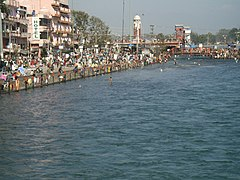 Gango ĉe Haridwar, Uttarakhand.jpg