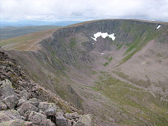 Cairngorms - Scotland's most durable snow patch, Garbh Choire Mòr, Braeriach, 8 August 2008